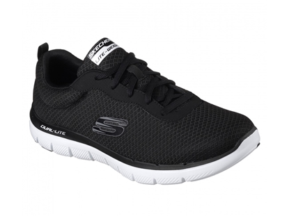 Bilde av SKECHERS SKO FLEX ADVANTAGE BLACK/WHITE