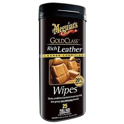Bilde av Meguiar's Rich Leather Cleaner & Conditioner Wipes
