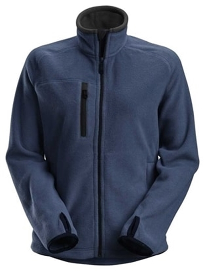 Bilde av SNICKERS JAKKE 8027 FLEECE DAME MBLÅ/SORT