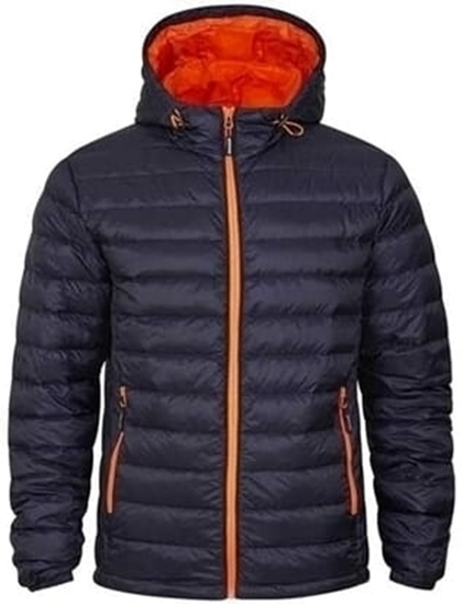 Bilde av TRACKER 70780517 SUPERLIGHT HOODED DUNJAKKE MARINE M.ORANGE KONSTRAST